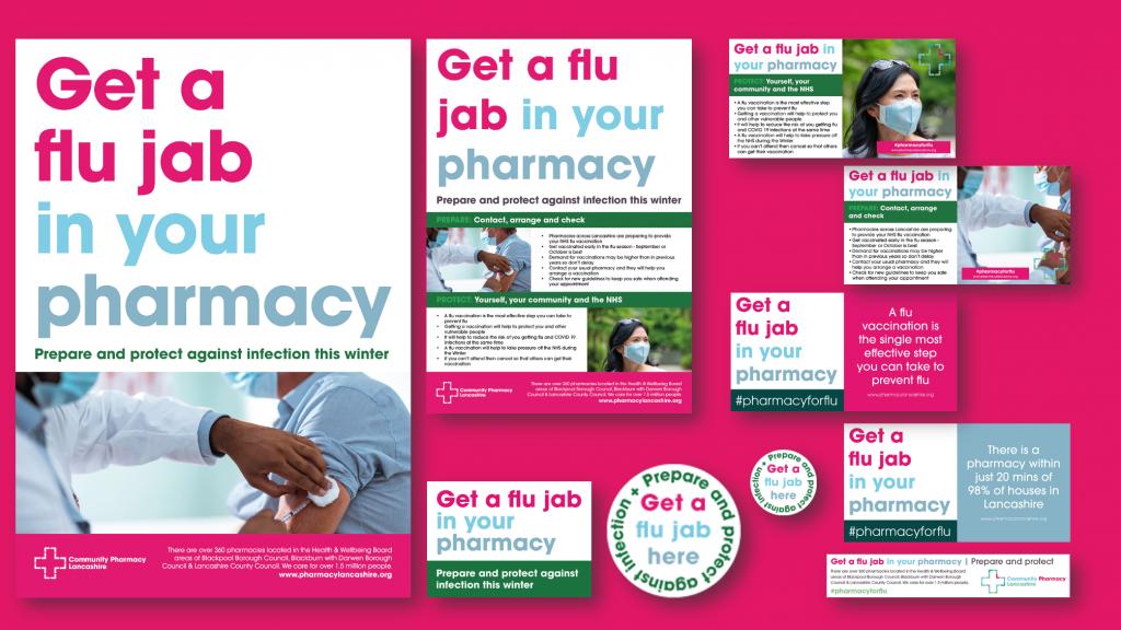 Community Pharmacy Lancashire Flu Campaign Assets